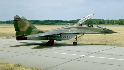 Photo ID 16053 by Rainer Mueller. Germany Air Force Mikoyan Gurevich MiG 29UB 9 51, 29 22