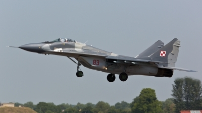 Photo ID 124249 by Doug MacDonald. Poland Air Force Mikoyan Gurevich MiG 29A 9 12A, 83
