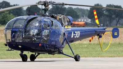 Photo ID 124666 by Mark Broekhans. Netherlands Air Force Aerospatiale SA 316B Alouette III, A 301
