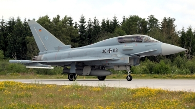 Photo ID 124762 by Carl Brent. Germany Air Force Eurofighter EF 2000 Typhoon T, 30 03
