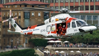 Photo ID 126622 by Ricardo Manuel Abrantes. Spain Maritime Safety and Rescue Agency Agusta Westland AW139, EC KLM