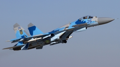 Photo ID 124937 by Chris Lofting. Ukraine Air Force Sukhoi Su 27, 26 BLUE