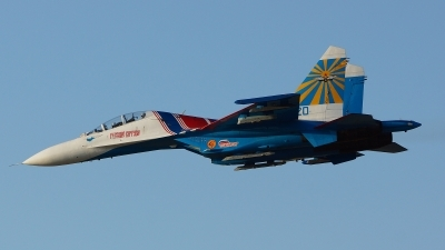 Photo ID 125500 by Lukas Kinneswenger. Russia Air Force Sukhoi Su 27UB, 20 BLUE