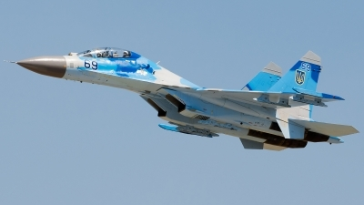 Photo ID 125488 by Alex van Noye. Ukraine Air Force Sukhoi Su 27UB, 69 BLUE