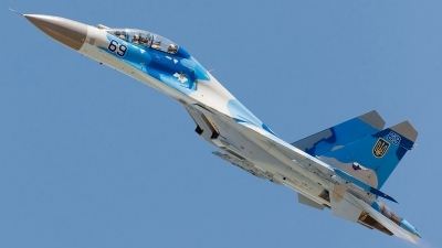 Photo ID 125628 by Alex van Noye. Ukraine Air Force Sukhoi Su 27UB, 69 BLUE