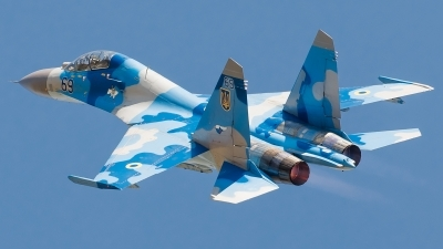 Photo ID 125621 by Alex van Noye. Ukraine Air Force Sukhoi Su 27UB, 69 BLUE