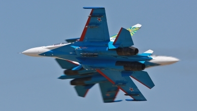 Photo ID 125965 by Lars Kitschke. Russia Air Force Sukhoi Su 27UB, 20 BLUE