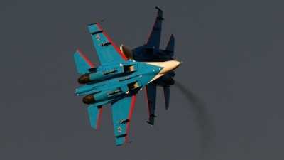 Photo ID 126058 by FEUILLIN Alexis. Russia Air Force Sukhoi Su 27UB, 20 BLUE