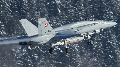 Photo ID 127594 by Thomas Ziegler - Aviation-Media. Switzerland Air Force McDonnell Douglas F A 18C Hornet, J 5022