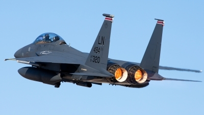 Photo ID 126557 by Adam Wright. USA Air Force McDonnell Douglas F 15E Strike Eagle, 91 0320