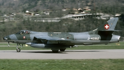Photo ID 127394 by Joop de Groot. Switzerland Air Force Hawker Hunter F58, J 4082