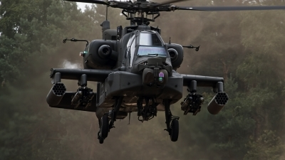 Photo ID 127410 by Niels Roman / VORTEX-images. Netherlands Air Force Boeing AH 64DN Apache Longbow, Q 24