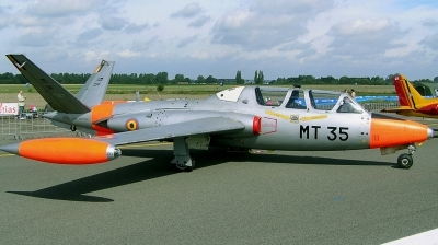 Photo ID 127405 by Arie van Groen. Belgium Air Force Fouga CM 170R Magister, MT 35