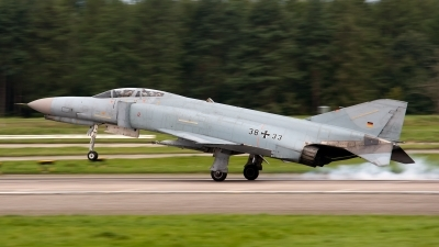 Photo ID 127863 by Jan Eenling. Germany Air Force McDonnell Douglas F 4F Phantom II, 38 33