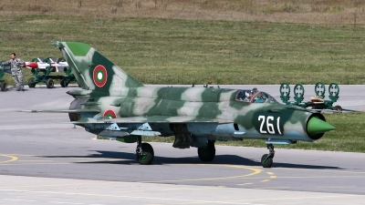 Photo ID 16672 by Anton Balakchiev. Bulgaria Air Force Mikoyan Gurevich MiG 21bis SAU, 261