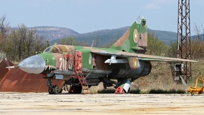 Photo ID 16708 by Anton Balakchiev. Bulgaria Air Force Mikoyan Gurevich MIG 23MLD, 211