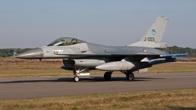 Photo ID 128760 by Jan Eenling. Netherlands Air Force General Dynamics F 16AM Fighting Falcon, J 003