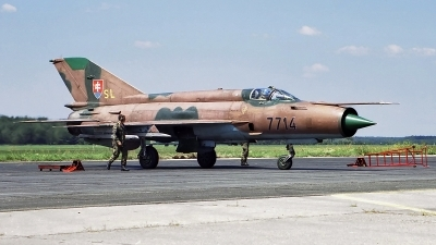 Photo ID 129523 by Roman Mr.MiG. Slovakia Air Force Mikoyan Gurevich MiG 21MF, 7714