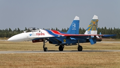 Photo ID 130049 by Niels Roman / VORTEX-images. Russia Air Force Sukhoi Su 27S, 08 BLUE
