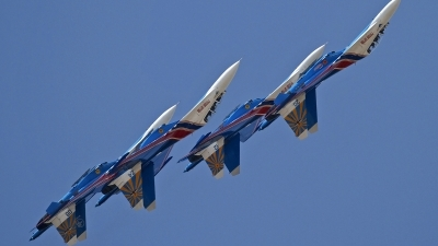 Photo ID 130143 by Niels Roman / VORTEX-images. Russia Air Force Sukhoi Su 27UB, 20 BLUE
