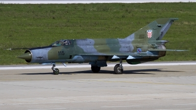 Photo ID 130182 by Chris Lofting. Croatia Air Force Mikoyan Gurevich MiG 21bisD, 115