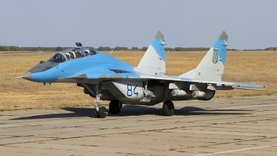 Photo ID 130177 by Chris Lofting. Ukraine Air Force Mikoyan Gurevich MiG 29UB 9 51, 84 BLUE