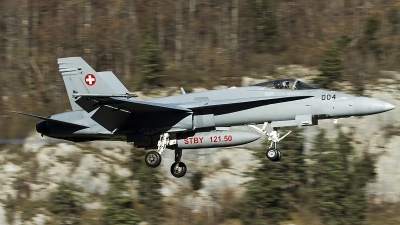 Photo ID 130421 by Thomas Ziegler - Aviation-Media. Switzerland Air Force McDonnell Douglas F A 18C Hornet, J 5004
