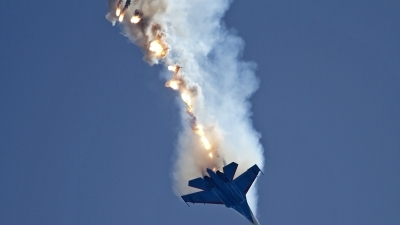Photo ID 130672 by Niels Roman / VORTEX-images. Russia Air Force Sukhoi Su 27UB, 20 BLUE