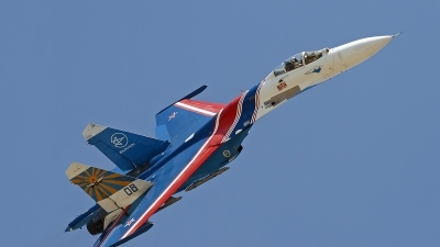 Photo ID 130665 by Niels Roman / VORTEX-images. Russia Air Force Sukhoi Su 27S, 08 BLUE