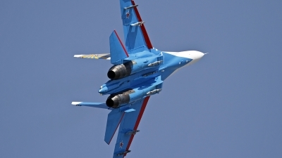 Photo ID 130663 by Niels Roman / VORTEX-images. Russia Air Force Sukhoi Su 27S, 10 BLUE