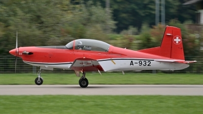 Photo ID 131785 by Martin Thoeni - Powerplanes. Switzerland Air Force Pilatus NCPC 7 Turbo Trainer, A 932