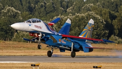 Photo ID 131724 by Niels Roman / VORTEX-images. Russia Air Force Sukhoi Su 27UB, 20 BLUE