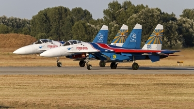 Photo ID 132296 by Niels Roman / VORTEX-images. Russia Air Force Sukhoi Su 27S, 08 BLUE