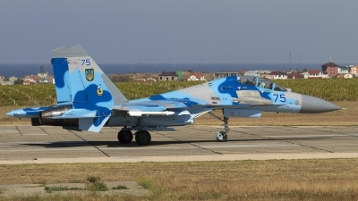 Photo ID 132274 by Chris Lofting. Ukraine Air Force Sukhoi Su 27UB, 75 BLUE