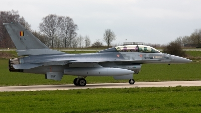 Photo ID 132396 by Jan Eenling. Belgium Air Force General Dynamics F 16BM Fighting Falcon, FB 17