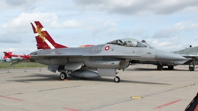 Photo ID 132418 by Patrick Weis. Denmark Air Force General Dynamics F 16AM Fighting Falcon, E 194