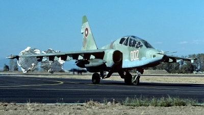 Photo ID 133490 by Carl Brent. Bulgaria Air Force Sukhoi Su 25UBK, 002