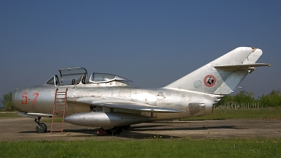 Photo ID 17366 by Sean Wilson - Prime Images. Albania Air Force Mikoyan Gurevich MiG 15UTI, 5 71