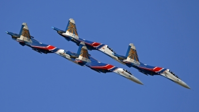 Photo ID 133611 by Niels Roman / VORTEX-images. Russia Air Force Sukhoi Su 27S, 08 BLUE