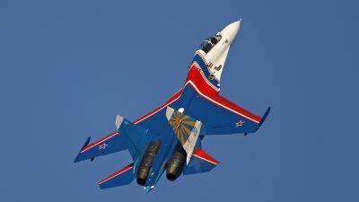 Photo ID 133612 by Niels Roman / VORTEX-images. Russia Air Force Sukhoi Su 27UB, 20 BLUE
