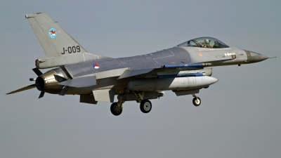 Photo ID 133624 by Niels Roman / VORTEX-images. Netherlands Air Force General Dynamics F 16AM Fighting Falcon, J 009