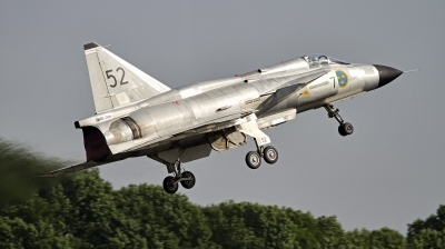 Photo ID 133846 by Tim Van den Boer. Private Swedish Air Force Historic Flight Saab AJS37 Viggen, SE DXN