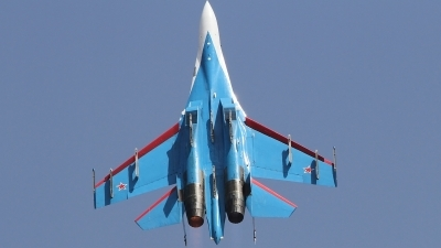 Photo ID 134010 by Paul Newbold. Russia Air Force Sukhoi Su 27S, 08 BLUE