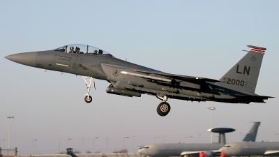 Photo ID 134454 by John Higgins. USA Air Force McDonnell Douglas F 15E Strike Eagle, 01 2000