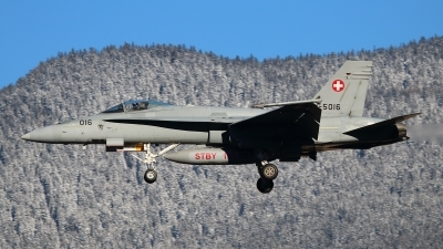 Photo ID 135502 by Ludwig Isch. Switzerland Air Force McDonnell Douglas F A 18C Hornet, J 5016