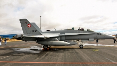 Photo ID 135643 by Ricardo Gomes. Switzerland Air Force McDonnell Douglas F A 18D Hornet, J 5234