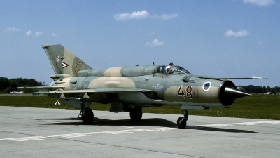 Photo ID 136374 by Joop de Groot. Hungary Air Force Mikoyan Gurevich MiG 21bis SAU, 48