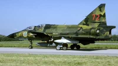 Photo ID 136573 by Joop de Groot. Sweden Air Force Saab Sk37E Viggen, 37809