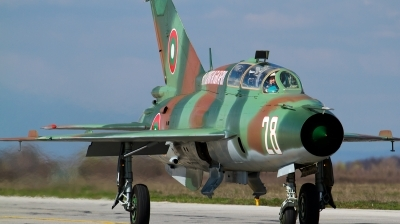 Photo ID 137466 by Anton Balakchiev. Bulgaria Air Force Mikoyan Gurevich MiG 21UM, 28