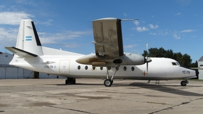 Photo ID 137734 by Martin Kubo. Argentina Air Force Fokker F 27 Mk400 Troopship, TC 79